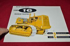 Allis Chalmers HD-16 Crawler Tractor Dozer Dealer's Brochure YABE14 ver6