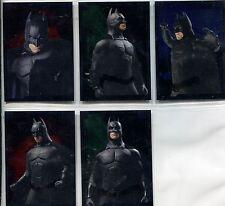 Batman Begins Complete Embossed Chase Card Set 1-5