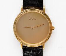 Gucci man's size 18k solid gold ref.705M nuovo new pristine in box
