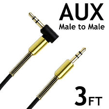 AUX 3 FT 3.5mm  Male to Male Stereo Audio Cable iPhone Android headphone car AUX