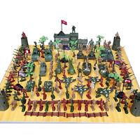 Jungen Militär Soldaten Spielzeug Kit Armee Männer Figuren Zubehör Modell XJ