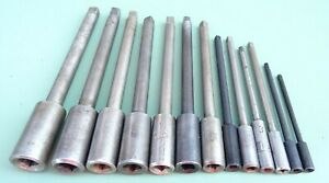 13 Steckschlüssel Ø 2- 7,1 mm Werkzeughalter Vierkant Verlängerung Gewindebohrer