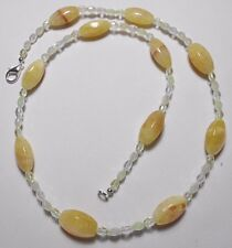"Honey Agate 20mm beads + glass beads, 23"" necklace"