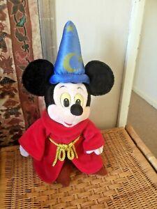DISNEYLAND PARIS - Large Mickey Mouse Fantasia WIZARD  soft toy 44 cm tall