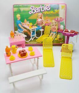 Vintage Barbie Picnic Set with Original Box Mattel 1986 #7751