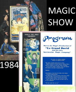 1984 Magic Magician Le Grand David programme Beverly Massachusetts USA brochure