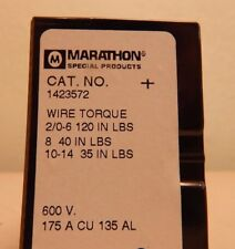 MARATHON 1423572  POWER DISTRIBUTION BLOCK, 600V, 175A, 3-POLE *USED