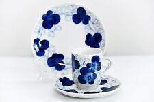 Arabia Finland Elsa Coffee Cup & Saucer & Dessert Plate TRIO Set