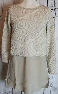 Twin-Set, Langarm, Sand, S,  Sommer 2018 NEU! MADE IN ITALY! SALE!