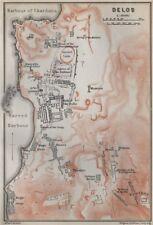 Delos TERRA Piano. TEATRO Agorà di gli italiani Templi & C. Grecia 1909 Mappa