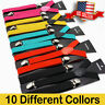 Men Women Suspenders - Unis Clip-on Suspender Adjustable - Elastic  Black - Y