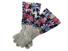 PRUNING GLOVES GAUNTLET THORN LONG SLEEVE GARDENING LEATHER PRETTY LADIES GIFT