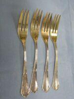 KA341-800er Silber 4 Gabel alt Teils vergoldet Lang 14,5 cm Gewicht 100 Gramm