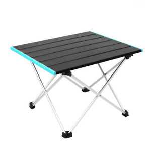 In/outdoor Table Portable Roll Up Tables Aluminum Camping BBQ Desk 56*40*41CM AU