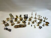 Huge lot Brass and copper miniature ornaments-made in England. Dollhouse