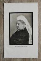 Kunstdruck 1 Blatt 1901 Trauer Rand Königin Victoria Grossbritannien Irland Tod
