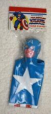 Marvel SuperHero HAND PUPPET- CAPTAIN AMERICA 1978 Rare Marvelmania MIP