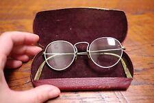 Antique Vtg 12kgf Gold Filled Bausch Lomb Round Spectacle Gandhi Lennon Glasses