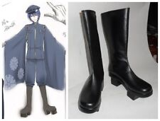 Vocaloid Kaito Senbon Sakura Cosplay Costume Black Boots Boot Shoes Shoe UK