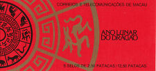 1988 Macao / Macau New Year : Year of the dragon booklet (SG 661)