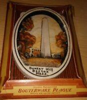 "Vint. ""Bunker Hill, Boston, Mass"" Genuine Bouterware Plaque by Corocraft Studios"