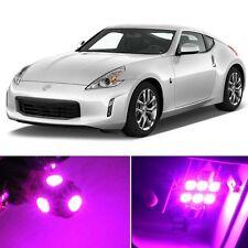 7 x Premium Hot Pink LED Lights Interior Package Kit for Nissan 370Z 2009-2017