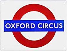 "Targa smaltata piccola tonda ""OXFORD CIRCUS"" metropolitana di Londra (gg)"