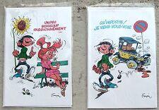 Gaston 2 Cartes de voeux Franquin