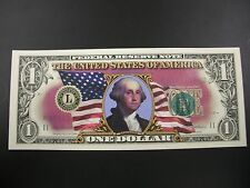 One Uncirculated Colorized One Dollar Bill
