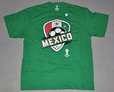 "NWOT FIFA 2014 World Cup Brasil Mens ""MEXICO"" Green Soccer Futbol Tee T-Shirt XL"