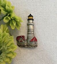 Signed Spoon Pewter 4140 Numbered Ds3 Classic Pin Brooch Light House Seascape