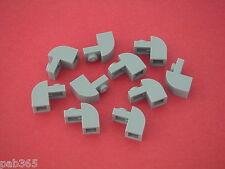 Lego 10 Briques courbées gris clair 1x2x1 Neuves / curved bricks REF 6091 NEW