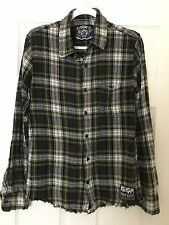 Drop Dead Clothing - RARE- Men's Small Green Flannel Plaid - Oliver Sykes