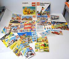 Lot of 25 Vintage 70's & 80's Lego Instructions & Catalogs Legoland Fabuland etc