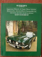 Sotheby's Car Auction Catalogue 9th & 11th December 1995 - RAF Museum, Hendon