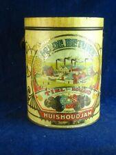 35868 Old Vintage Antique Sign Food Advert Tin Jam Dutch oud voedselblik