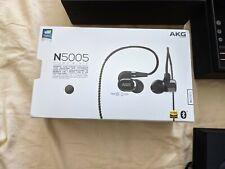 AKG N5005 Bluetooth Hi-Res Canal-Type Earphones - Piano Black - New open box