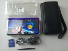 NINTENDO 3DS PURPLE WITH MARIO GALAXY DECAL SKIN'S + ACCESSORIES