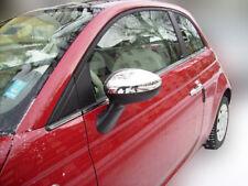 1 Set Edelstahl Spiegel Kappen Chrom für Fiat 500 ab 2007