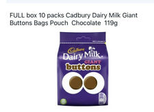 10 x Cadbury Dairy Milk Giant Buttons Bags Pouch Chocolate 119g