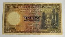 10 Egyptian Pound 1947 Specimen Uncirculated Rare currency Egypt