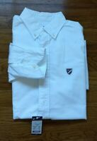 NWT DANIEL CREMIEUX Men Button Up Long Sleeve Shirt M Striped PATCHWORK White
