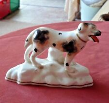 """ANTIQUE STAFFORDSHIRE FIGURE OF A DOG 5"""" base x 3 1/2"""" H C 1835-1850"""