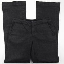 """Gap Women Pants Trousers Size 2 Black Glitter Holiday Career Stretch 31"""" Inseam"""