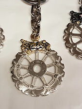 Tmax portachiavi artigianale disco freno e pinza metallo nikelato Oro