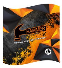 Hammer Orange Polygon Dye Sublimated Bowling Ball Towel