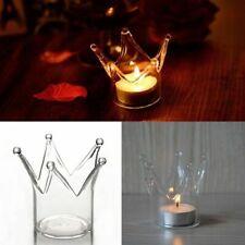 Candle Holder Crown Crystal Hanging Romantic Home Decor Glass Elegant Light Part