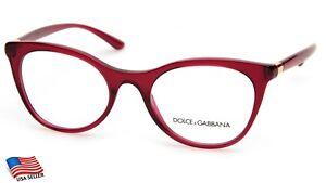 NEW D&G Dolce& Gabbana DG 3312 3211 Red EYEGLASSES FRAME 52-20-140 B42 Italy