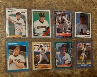 (8) Matt Williams 1987 1988 Donruss Fleer Topps Score Rookie Card lot RC 1989 UD
