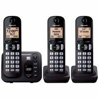 Panasonic KX-TGC253B DECT 6.0 Cordless Phone System (KX-TGC222S BLACK + 1)
